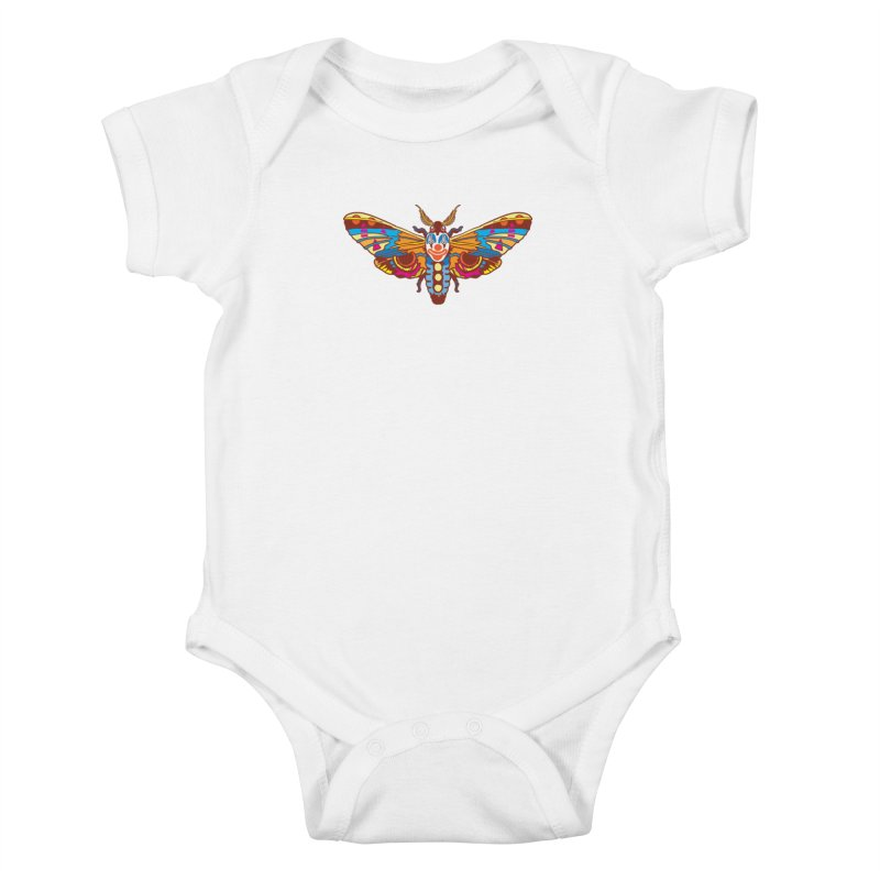 Clown Moth Kids Baby Bodysuit by My Metal Hand Artist Shop