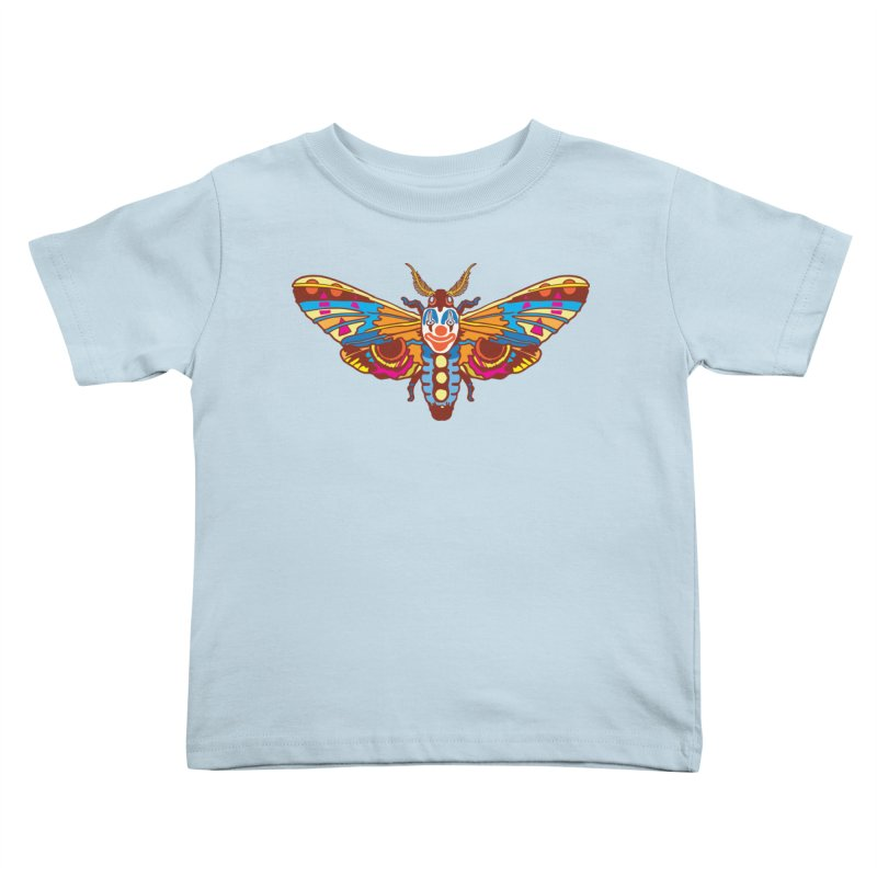 Clown Moth Kids Toddler T-Shirt by My Metal Hand Artist Shop