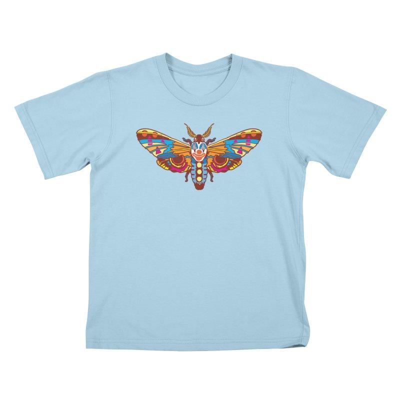 Clown Moth Kids T-Shirt by My Metal Hand Artist Shop