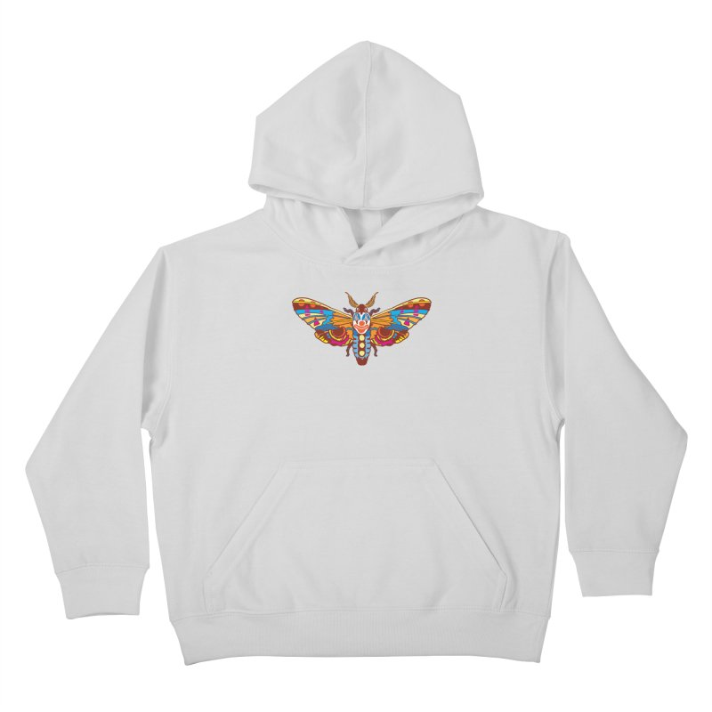 Clown Moth Kids Pullover Hoody by My Metal Hand Artist Shop