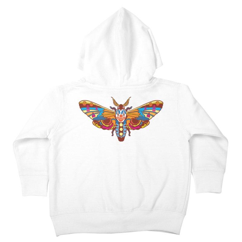 Clown Moth Kids Toddler Zip-Up Hoody by My Metal Hand Artist Shop