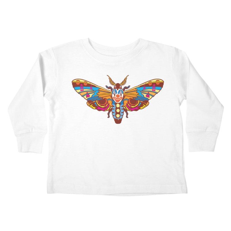 Clown Moth Kids Toddler Longsleeve T-Shirt by My Metal Hand Artist Shop