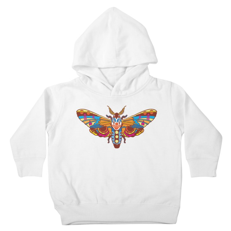 Clown Moth Kids Toddler Pullover Hoody by My Metal Hand Artist Shop