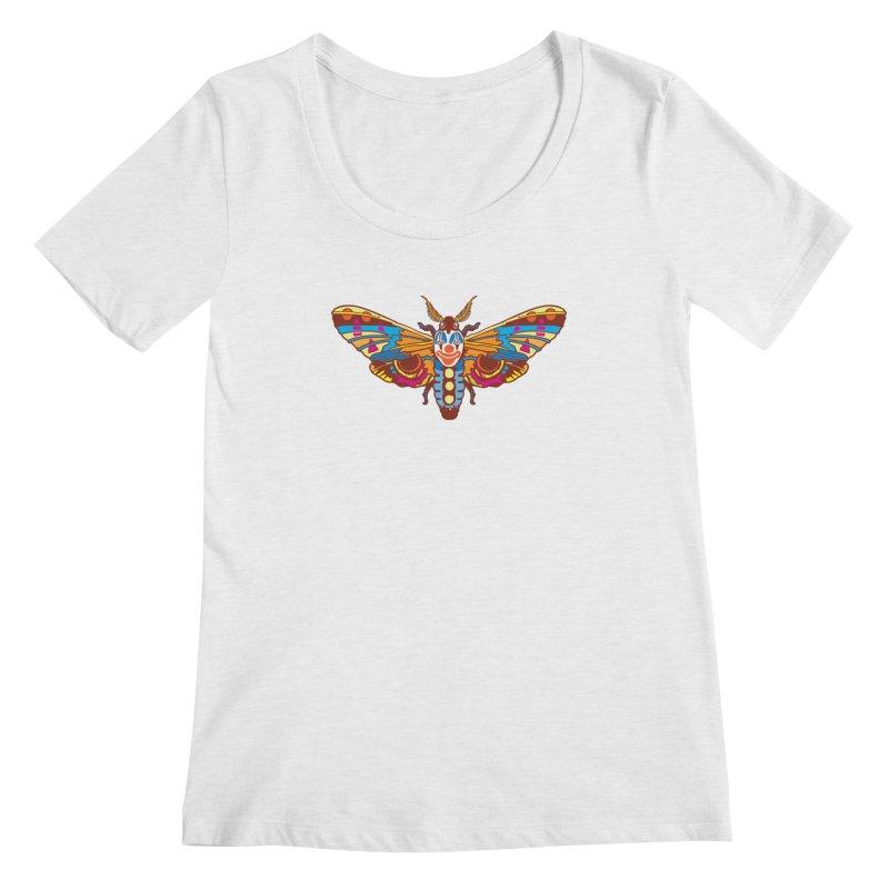 Clown Moth Women's Regular Scoop Neck by My Metal Hand Artist Shop