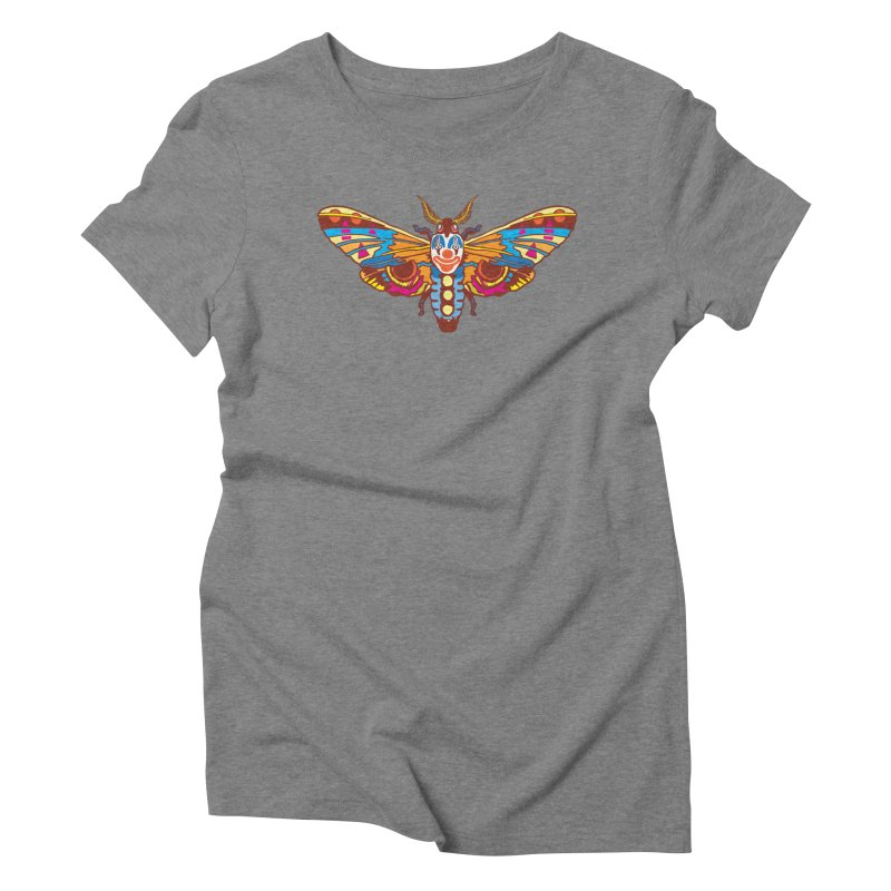 Clown Moth Women's Triblend T-Shirt by My Metal Hand Artist Shop