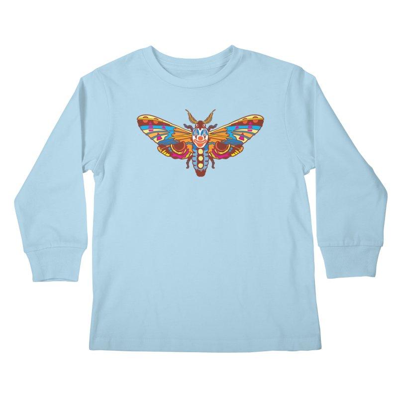 Clown Moth Kids Longsleeve T-Shirt by My Metal Hand Artist Shop