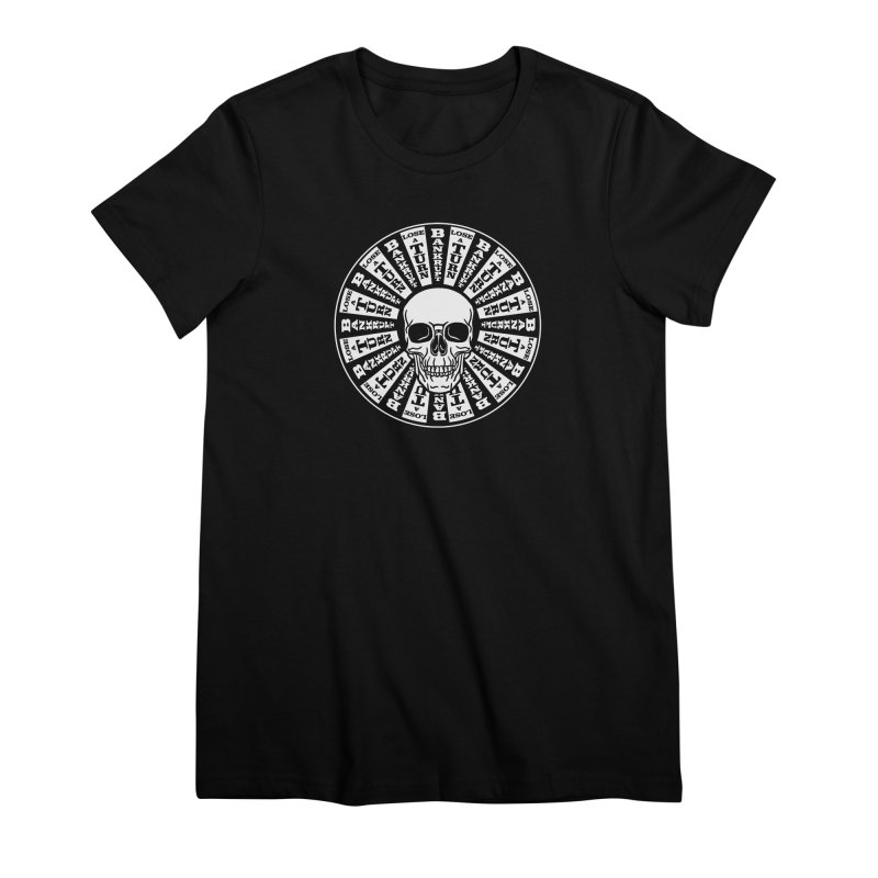 Skull of Fortune Women's Premium T-Shirt by My Metal Hand Artist Shop