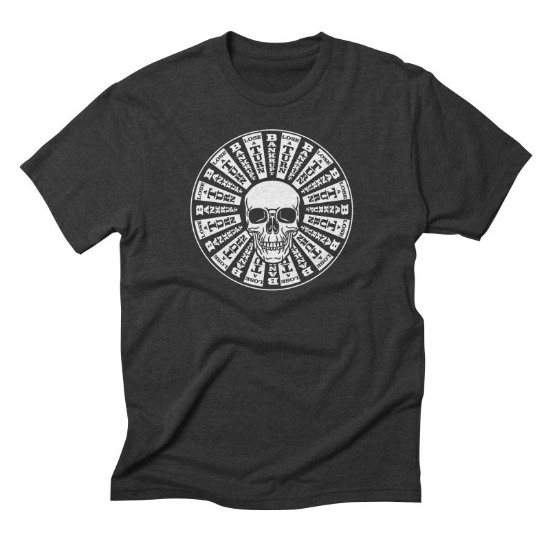 Skull of Fortune Men's Triblend T-Shirt by My Metal Hand Artist Shop