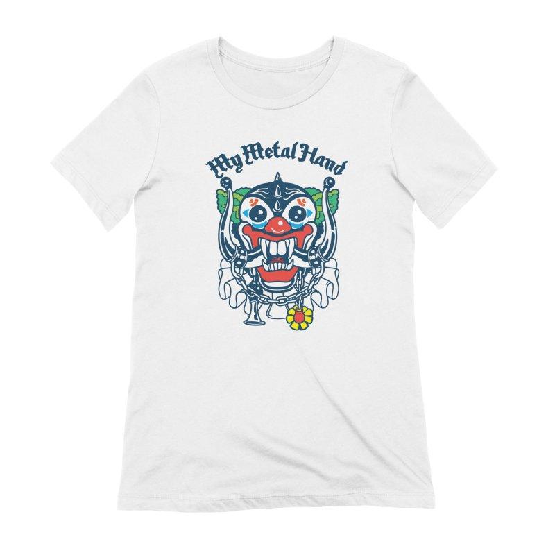 Clownish Head MMH Women's Extra Soft T-Shirt by My Metal Hand Artist Shop