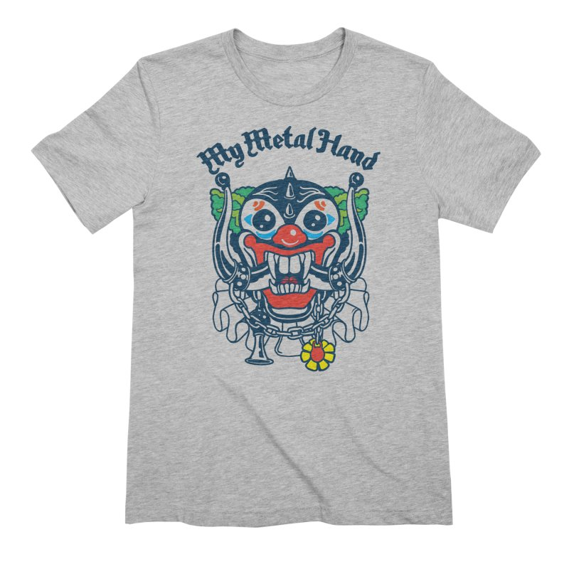 Clownish Head MMH Men's Extra Soft T-Shirt by My Metal Hand Artist Shop