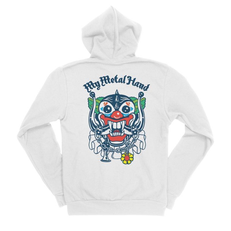 Clownish Head MMH Men's Sponge Fleece Zip-Up Hoody by My Metal Hand Artist Shop