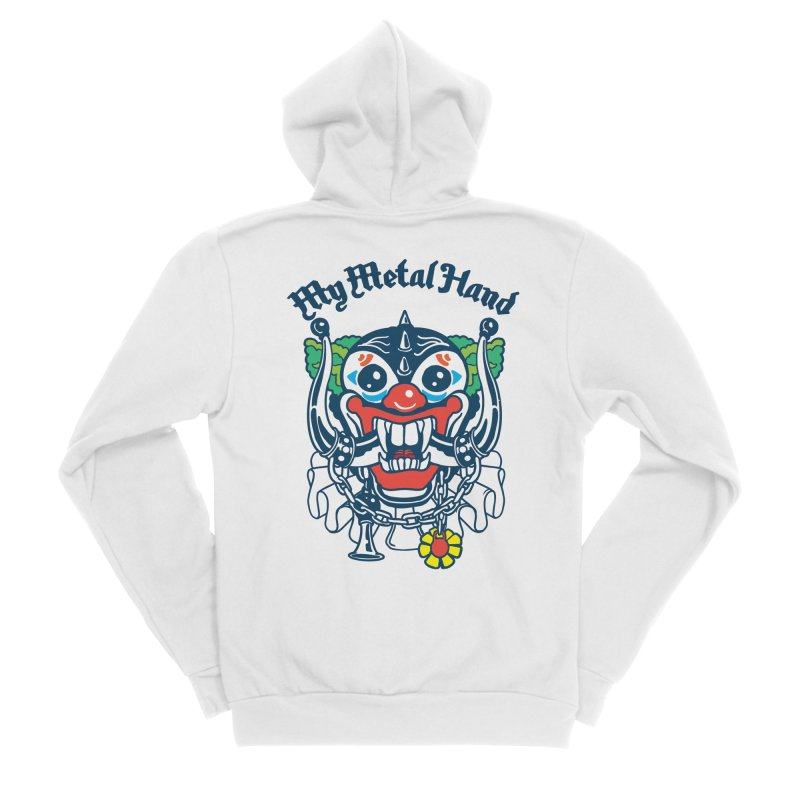 Clownish Head MMH Women's Sponge Fleece Zip-Up Hoody by My Metal Hand Artist Shop