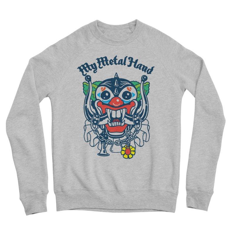 Clownish Head MMH Women's Sponge Fleece Sweatshirt by My Metal Hand Artist Shop