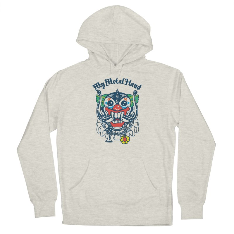 Clownish Head MMH Men's French Terry Pullover Hoody by My Metal Hand Artist Shop