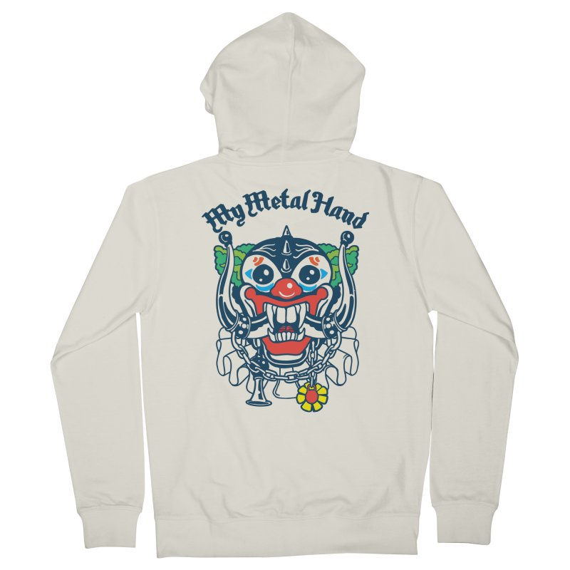 Clownish Head MMH Women's French Terry Zip-Up Hoody by My Metal Hand Artist Shop