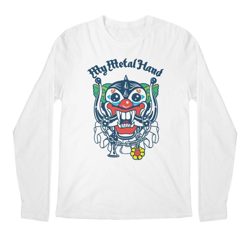 Clownish Head MMH Men's Regular Longsleeve T-Shirt by My Metal Hand Artist Shop