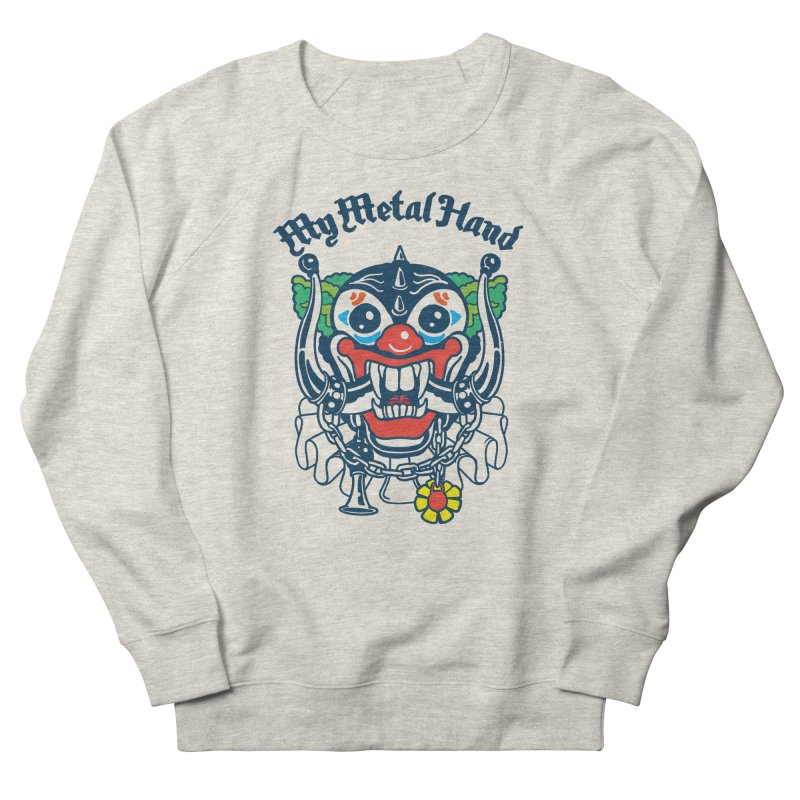 Clownish Head MMH Men's French Terry Sweatshirt by My Metal Hand Artist Shop