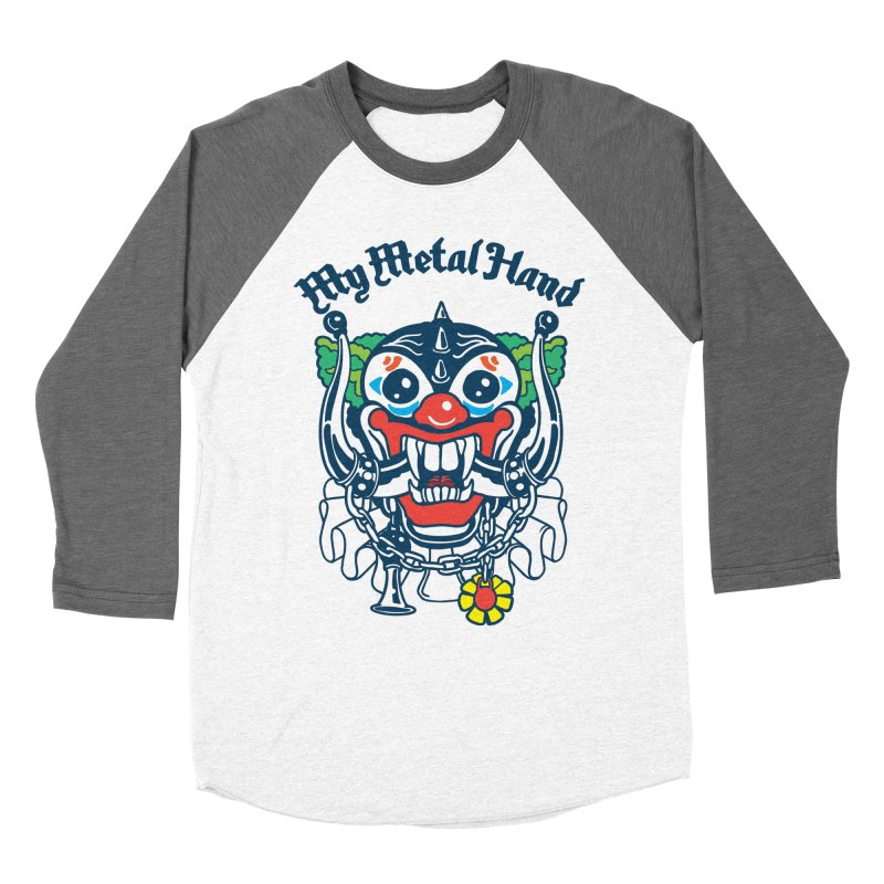 Clownish Head MMH Men's Baseball Triblend Longsleeve T-Shirt by My Metal Hand Artist Shop