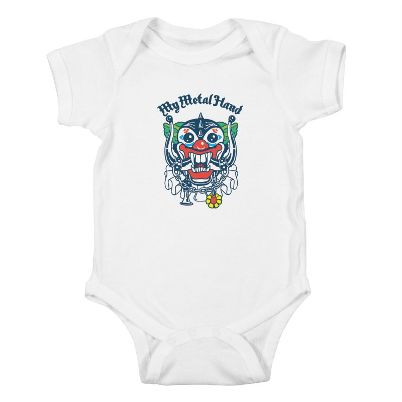 Clownish Head MMH Kids Baby Bodysuit by My Metal Hand Artist Shop