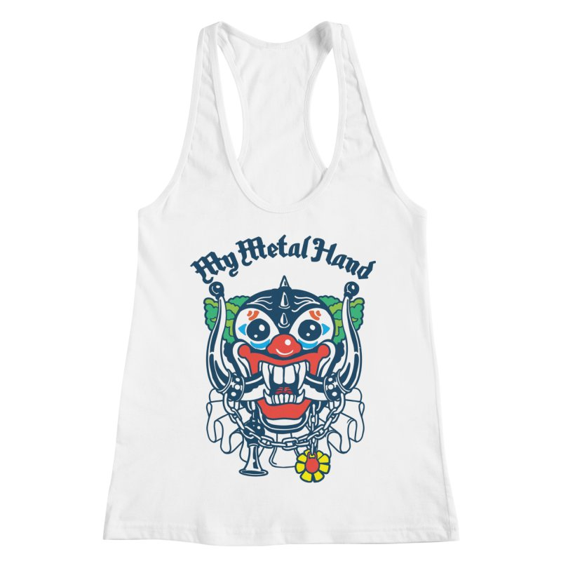 Clownish Head MMH Women's Racerback Tank by My Metal Hand Artist Shop