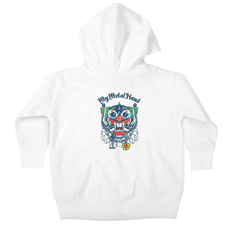 Clownish Head MMH Kids Baby Zip-Up Hoody by My Metal Hand Artist Shop