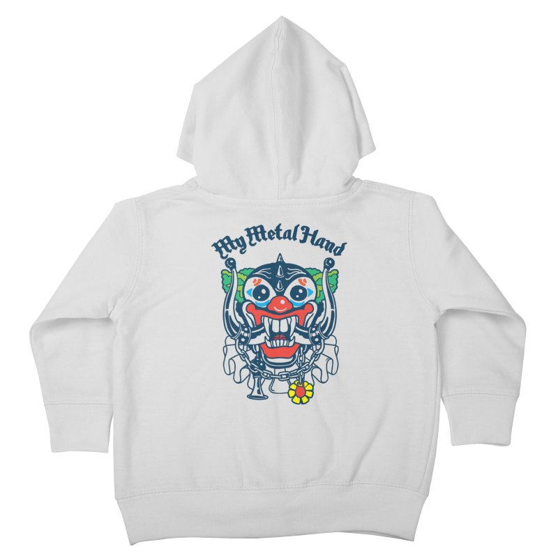 Clownish Head MMH Kids Toddler Zip-Up Hoody by My Metal Hand Artist Shop