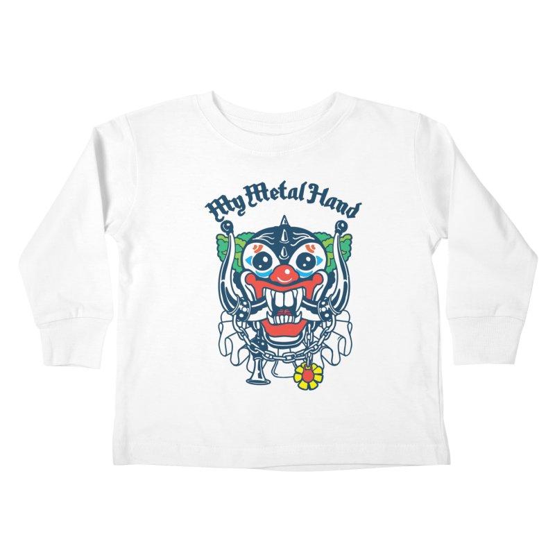 Clownish Head MMH Kids Toddler Longsleeve T-Shirt by My Metal Hand Artist Shop
