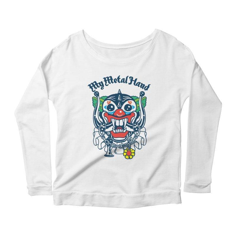 Clownish Head MMH Women's Scoop Neck Longsleeve T-Shirt by My Metal Hand Artist Shop