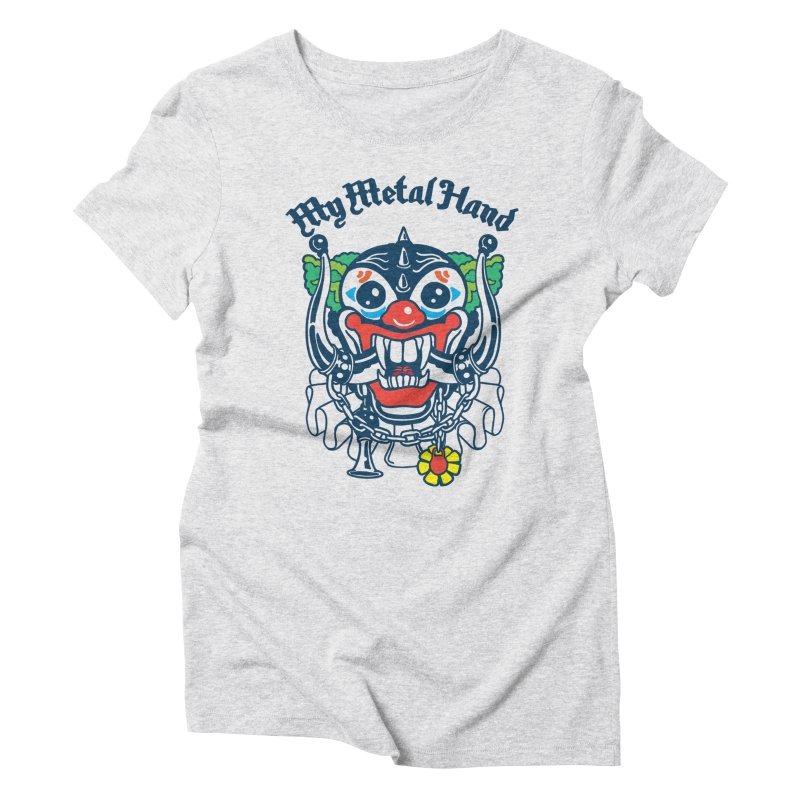 Clownish Head MMH Women's Triblend T-Shirt by My Metal Hand Artist Shop