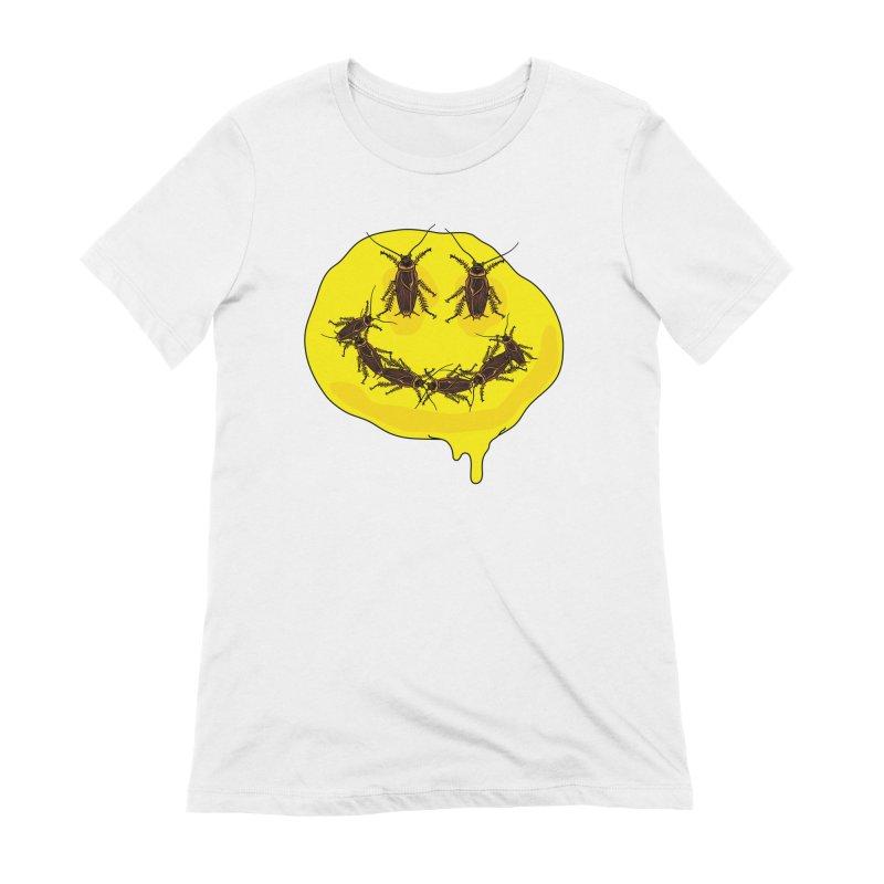Roach Face Women's Extra Soft T-Shirt by My Metal Hand Artist Shop