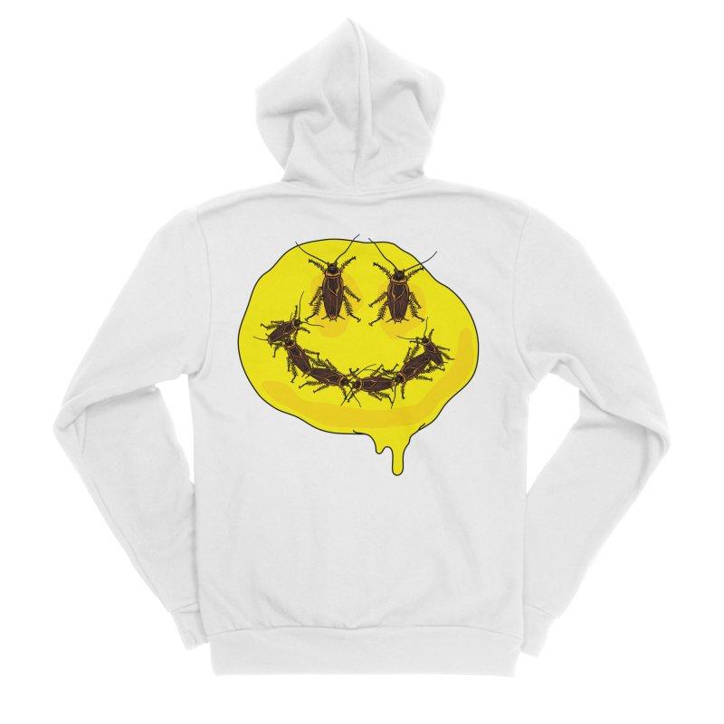 Roach Face Men's Sponge Fleece Zip-Up Hoody by My Metal Hand Artist Shop