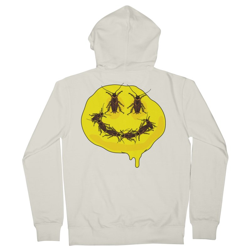 Roach Face Men's French Terry Zip-Up Hoody by My Metal Hand Artist Shop