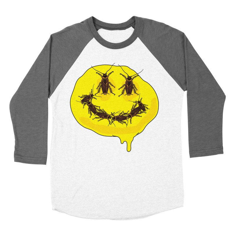 Roach Face Women's Baseball Triblend Longsleeve T-Shirt by My Metal Hand Artist Shop