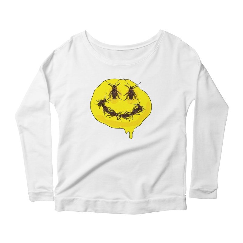 Roach Face Women's Scoop Neck Longsleeve T-Shirt by My Metal Hand Artist Shop