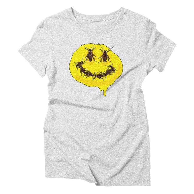 Roach Face Women's Triblend T-Shirt by My Metal Hand Artist Shop