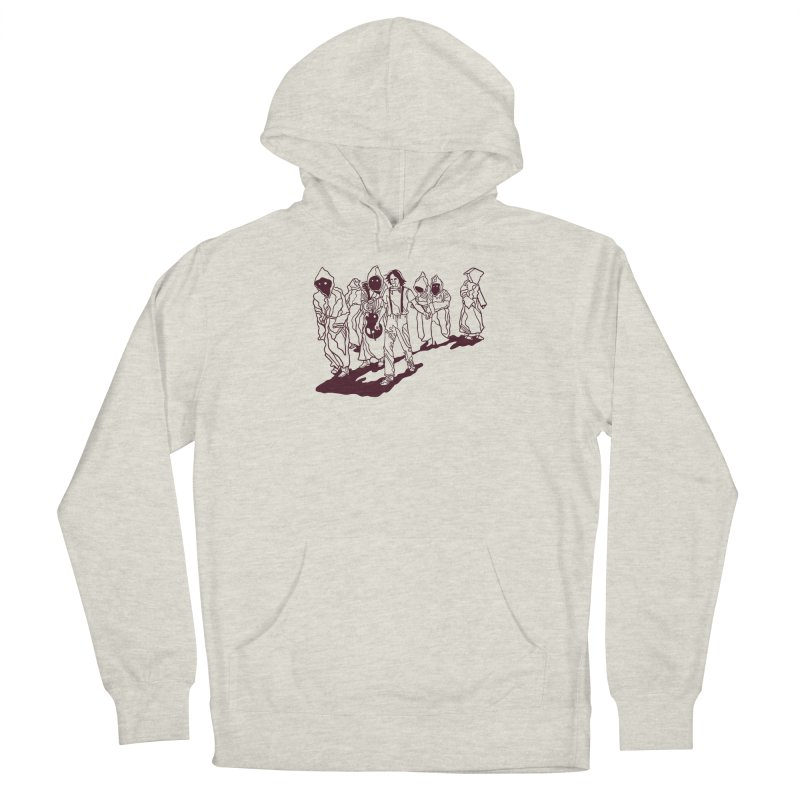 Rust Lines Forever Men's French Terry Pullover Hoody by My Metal Hand Artist Shop