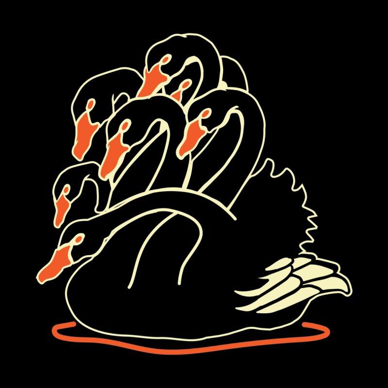 Seven Headed Black Swan Men's T-Shirt by My Metal Hand Artist Shop