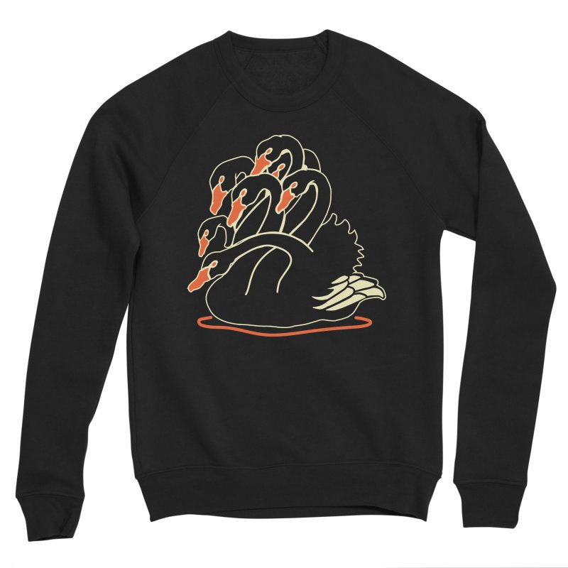 Seven Headed Black Swan Women's Sponge Fleece Sweatshirt by My Metal Hand Artist Shop