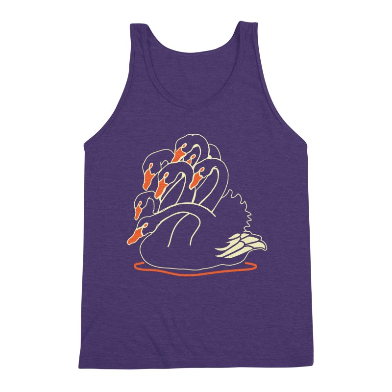 Seven Headed Black Swan Men's Triblend Tank by My Metal Hand Artist Shop
