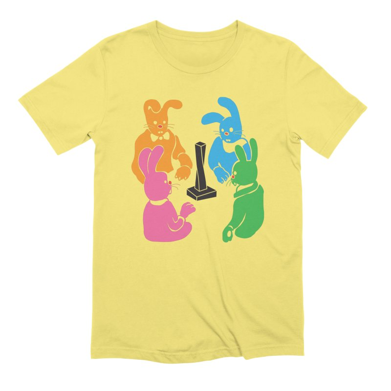 Bunny Presents Men's Extra Soft T-Shirt by My Metal Hand Artist Shop