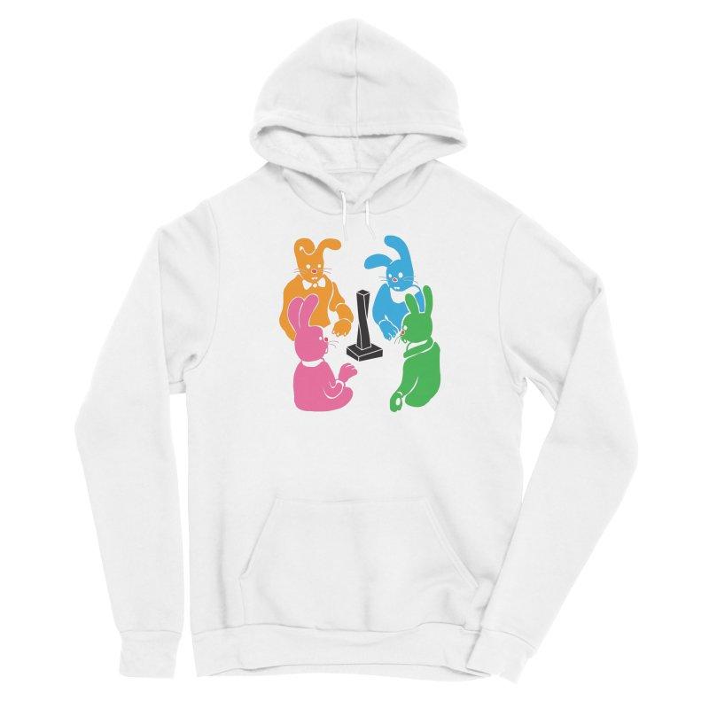 Bunny Presents Women's Sponge Fleece Pullover Hoody by My Metal Hand Artist Shop