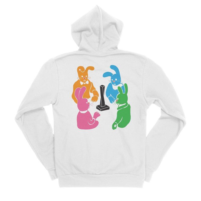 Bunny Presents Men's Sponge Fleece Zip-Up Hoody by My Metal Hand Artist Shop