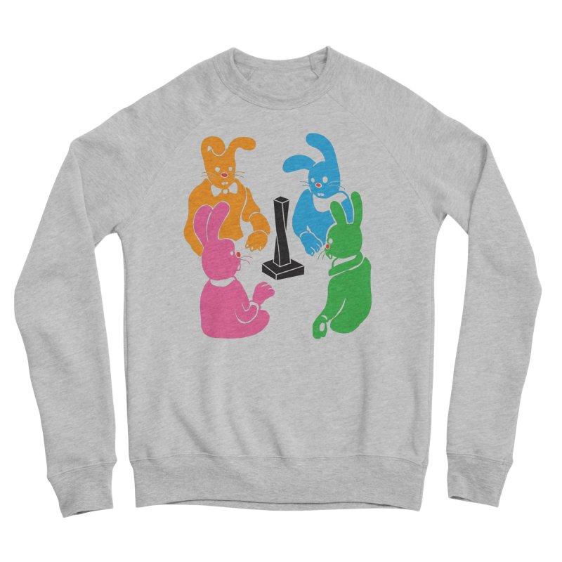 Bunny Presents Women's Sponge Fleece Sweatshirt by My Metal Hand Artist Shop