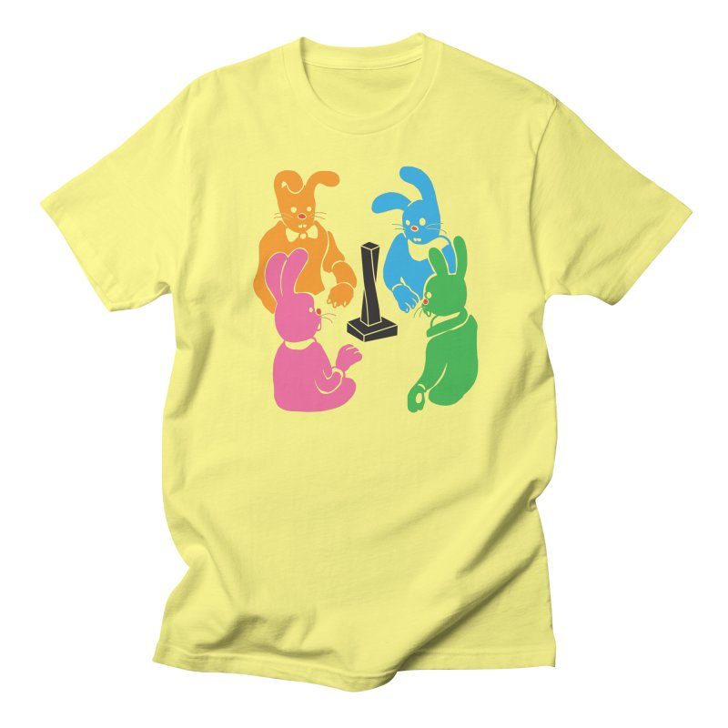 Bunny Presents Men's T-Shirt by My Metal Hand Artist Shop