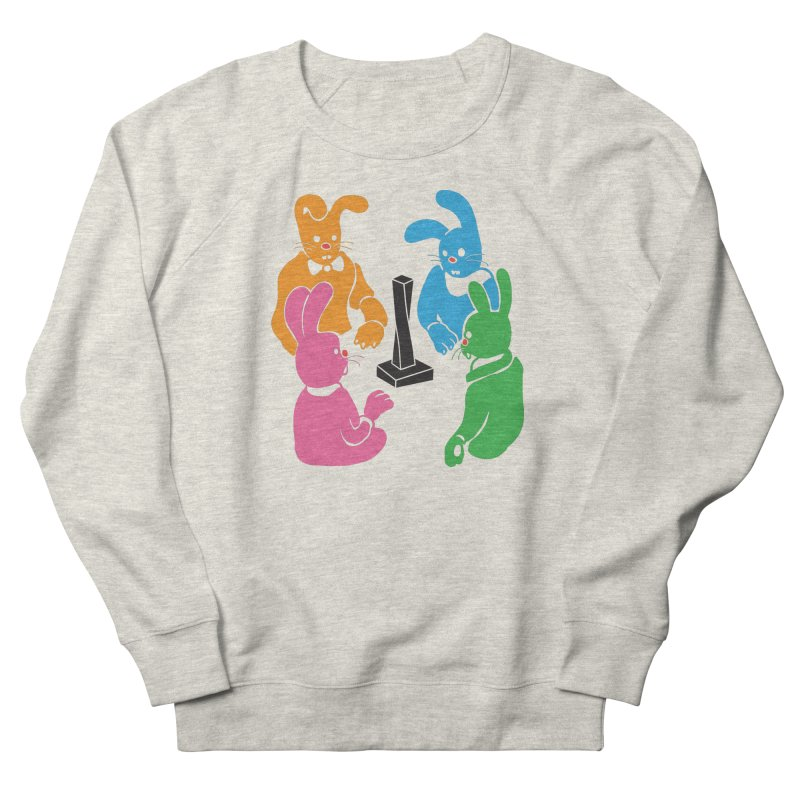 Bunny Presents Men's French Terry Sweatshirt by My Metal Hand Artist Shop