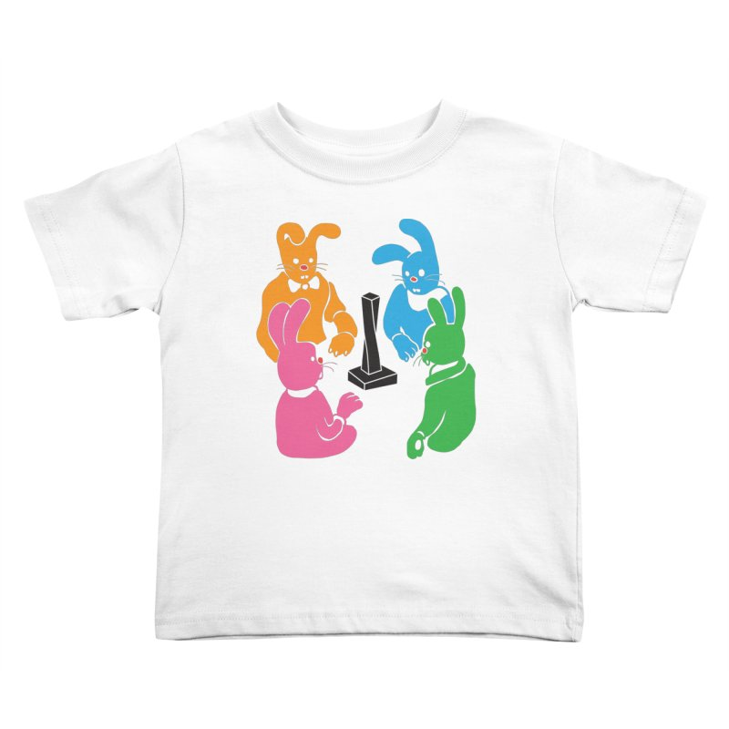 Bunny Presents Kids Toddler T-Shirt by My Metal Hand Artist Shop