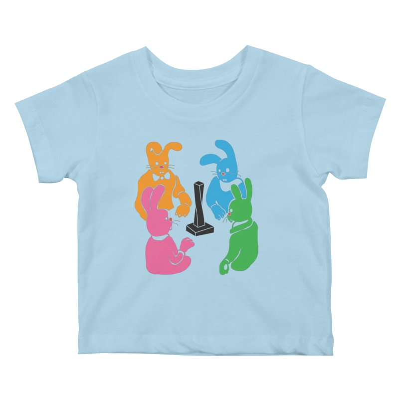 Bunny Presents Kids Baby T-Shirt by My Metal Hand Artist Shop