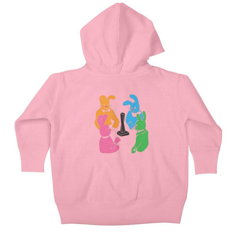 Bunny Presents Kids Baby Zip-Up Hoody by My Metal Hand Artist Shop
