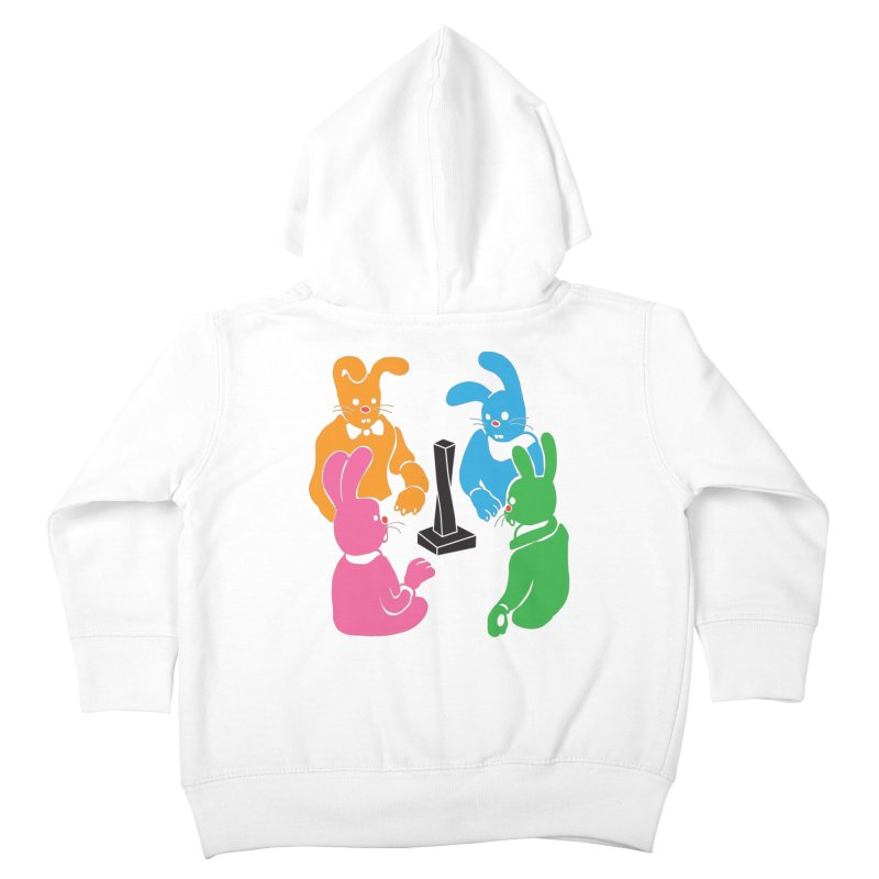 Bunny Presents Kids Toddler Zip-Up Hoody by My Metal Hand Artist Shop