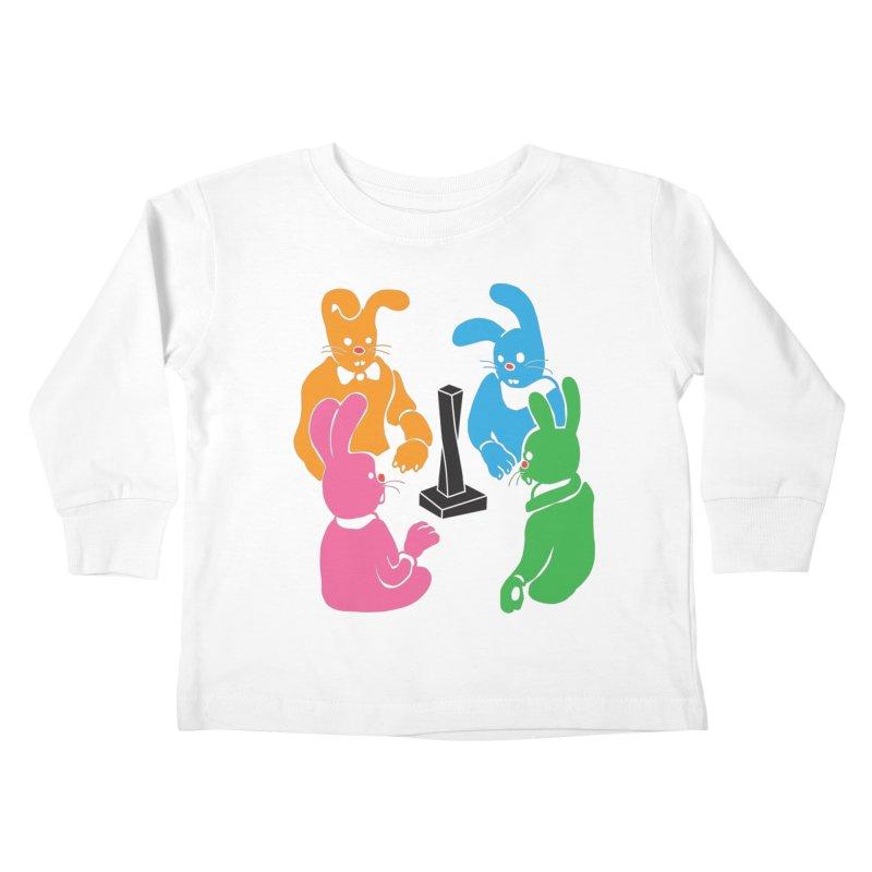 Bunny Presents Kids Toddler Longsleeve T-Shirt by My Metal Hand Artist Shop